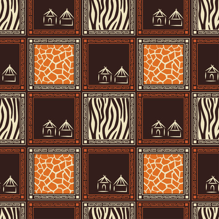 Abstract African seamless pattern with skin of wild animal