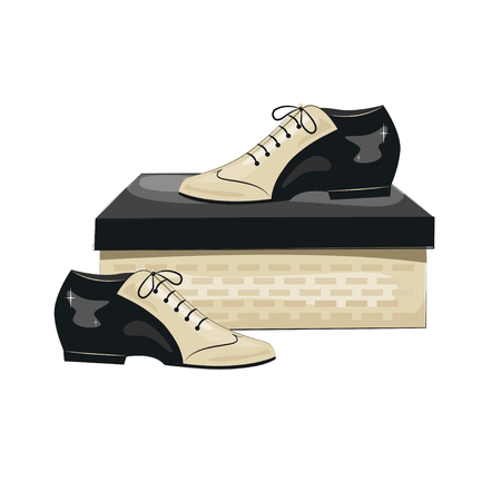 calcanhares: sapatos masculinos elegantes. sapatos de tango argentino. Ilustra