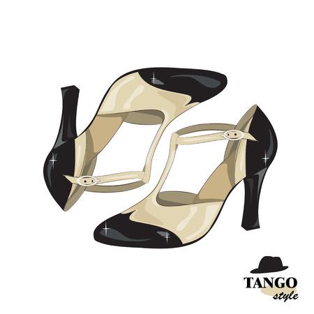 schoenen van elegante vrouwen. Vector illustratie, geïsoleerd op een witte achtergrond. Stock Illustratie