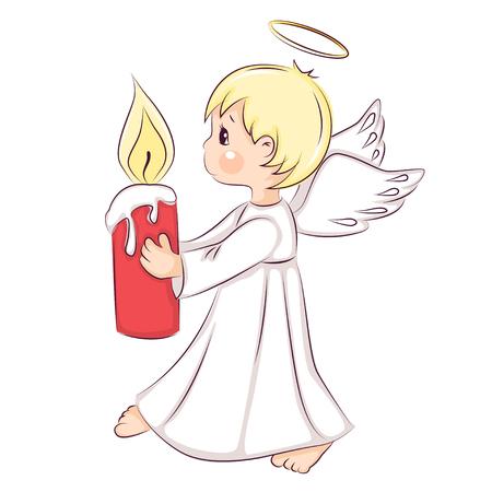 Cute little Christmas angel vector illustration