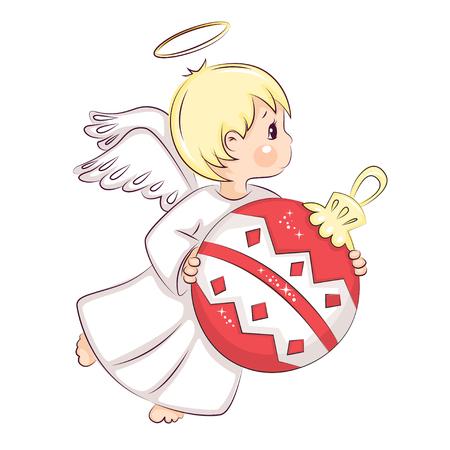 Cute little Christmas angel vector illustration Ilustração