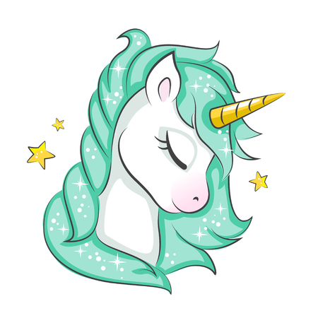 Cute magical unicorn