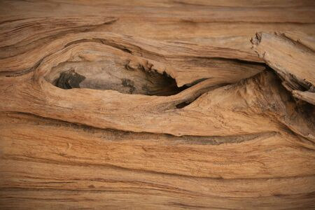 a part of knothole old wood plank in natural Stock Photo