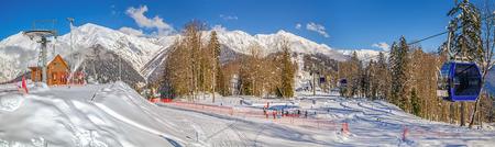The mountain and tourist center Laura, GAZPROM. Sochi. Russia