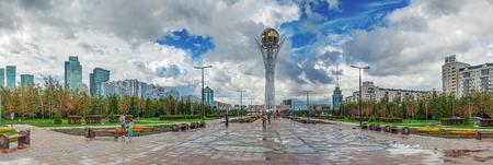 ASTANA, KAZAKHSTAN - JULY 2, 2016: Lookout tower Baiterek