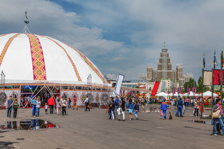 ASTANA, KAZAKHSTAN - JULY 5, 2016: Festival Millennium around Astana, a holiday dedicated to the civilization of nomads Editorial