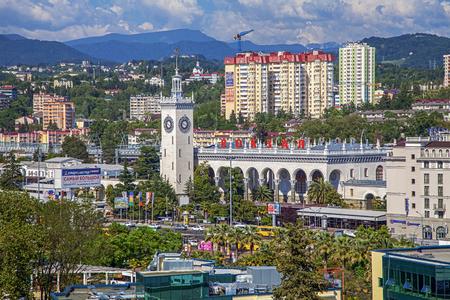 SOCHI, RUSSIA - JUNE 5, 2015: Railway station.
