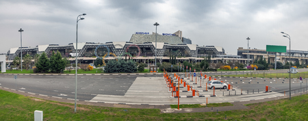 ADLER, SOCHI, RUSSIA - March 29, 2017: Panorama of the airport. Redactioneel