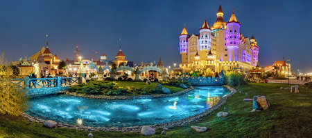 ADLER, RUSSIA - March 23, 2018: Night in Sochi Park.