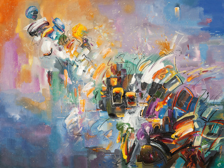 Ein abstraktes Kunstwerk der Emotionen. Standard-Bild