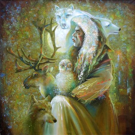 Artwork. Master of the tundra. Author: Nikolay Sivenkov.