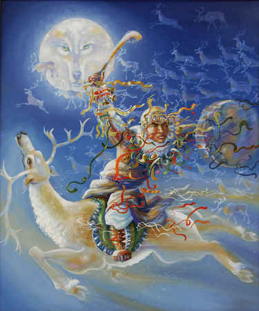 Artwork. Northern shaman. Author: Nikolay Sivenkov.