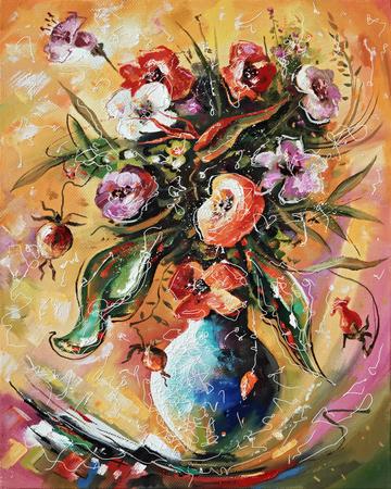 Artwork. Bouquet. Author: Nikolay Sivenkov. 版權商用圖片
