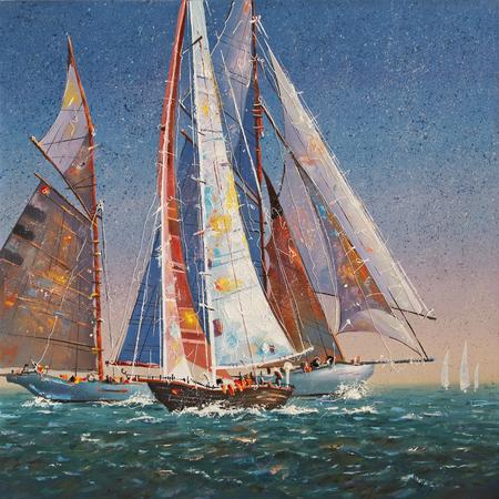 Artwork. Raised sails. Author: Nikolay Sivenkov.