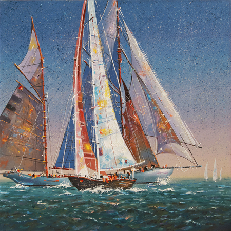 Artwork. Raised sails. Author: Nikolay Sivenkov.