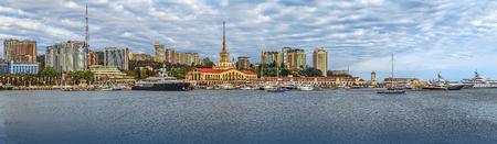 SOCHI, RUSSIA - May 30, 2015: Panoramic view of the seaside embankment.