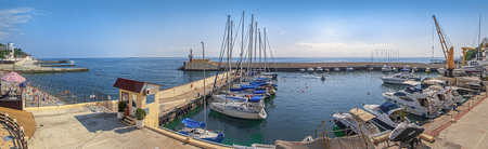 SOCHI, RUSSIA - SEPTEMBER 5, 2015: Panoramic view of the Sailing Center
