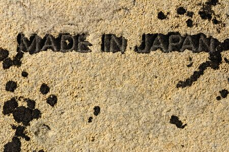 MADE IN JAPAN written on old leather lens case.