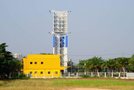 Large billboard building in the city, landscape background. 版權商用圖片