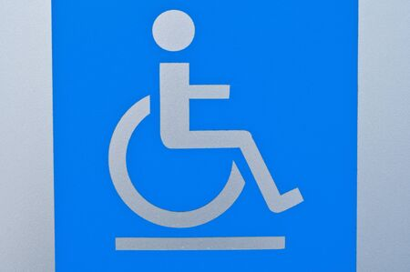 Handicapped wheelchair access sign  Stock Photo - 8418336