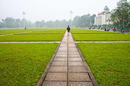 Rasen in Hanoi Standard-Bild