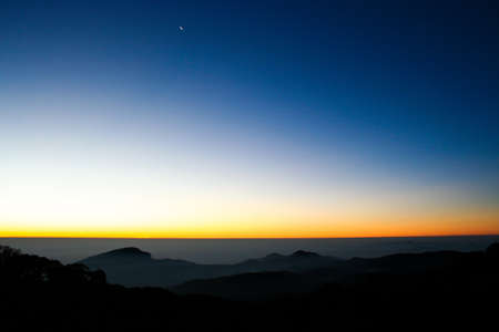 Atmosphere on the morning ,Inthanon mountain in Thailand Stock Photo