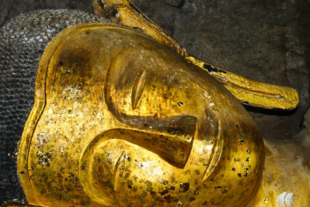 Golden face big buddha, Thailand photo