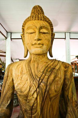 wood carvings: Buddha wood carvings Stock Photo