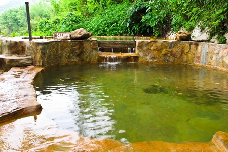 Natural swimming pool  at  Kanchanaburi in Thailand