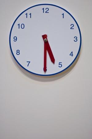 Clock on office wall  photo