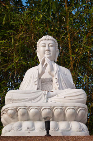 Marble buddha statue photo