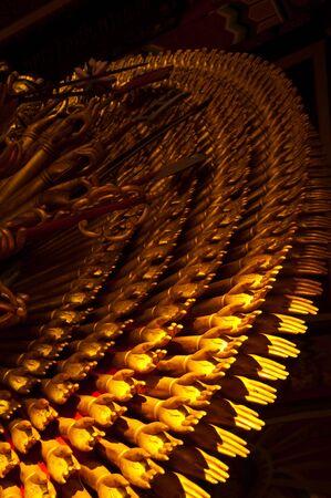 quan yin: Gold hands of quan yin statue