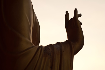 Buddha statues hand  Stock Photo