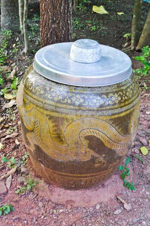 Water bowl and dragon jar photo