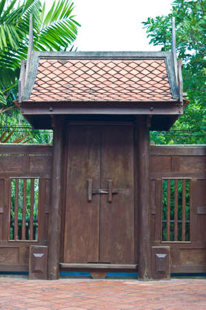 Ancient door  house,Thailand photo