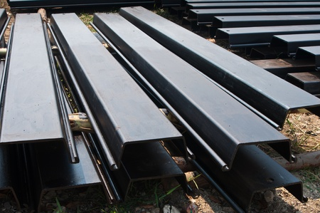 Steel sheet pile , black color