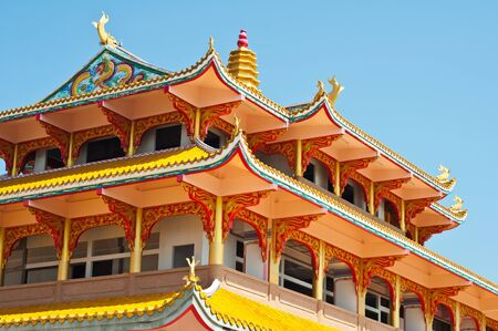 chinese temple: Chinese temple, Chonburi in Thailand Stock Photo