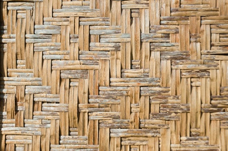 Old bamboo handcraft wall photo