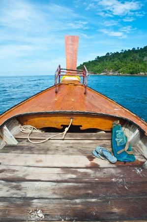 Local tourist boat from Lipe island,Thailand
