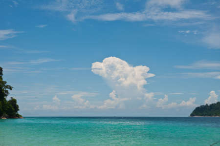 Cloud and beautiful andaman sea in Thailand Stock Photo - 13689488