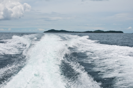 Waves from a speed boat