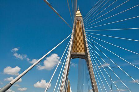 Sling bridge of Thailand photo