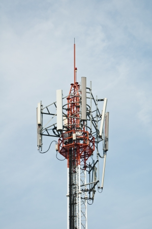 Telecom tower with GSM antenna  photo