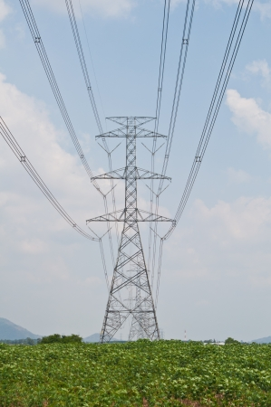three phase: High voltage transmission line
