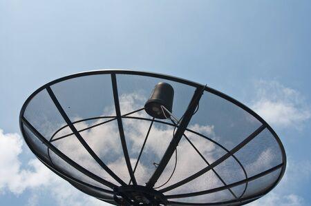 Satellite dish in the sky photo