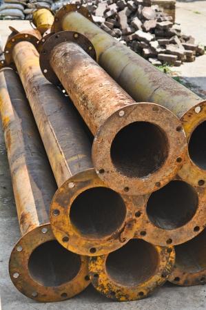 Rusty metal water pipe  photo