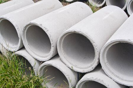 Cement water pipe photo