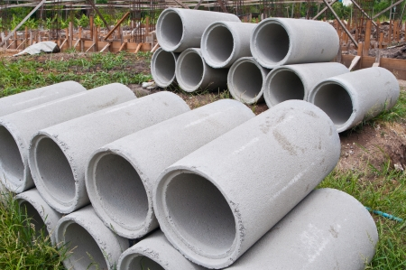 Industrial concrete pipe photo