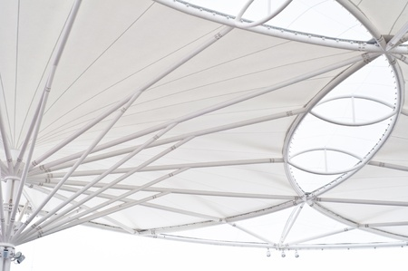 Canvas roof of building background