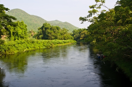 The river and mountain in forest of Thailand